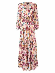 Saloni Japonica print dress - Multicolour