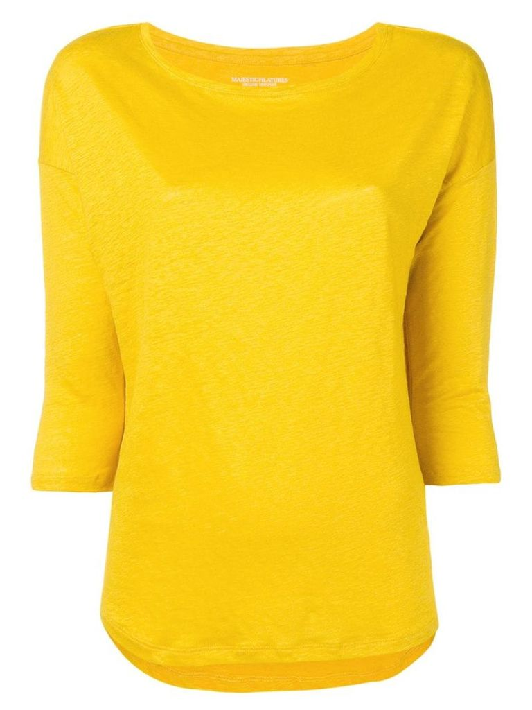 Majestic Filatures round neck jumper - Yellow