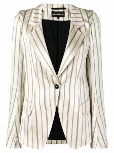 Ann Demeulemeester striped blazer - Neutrals