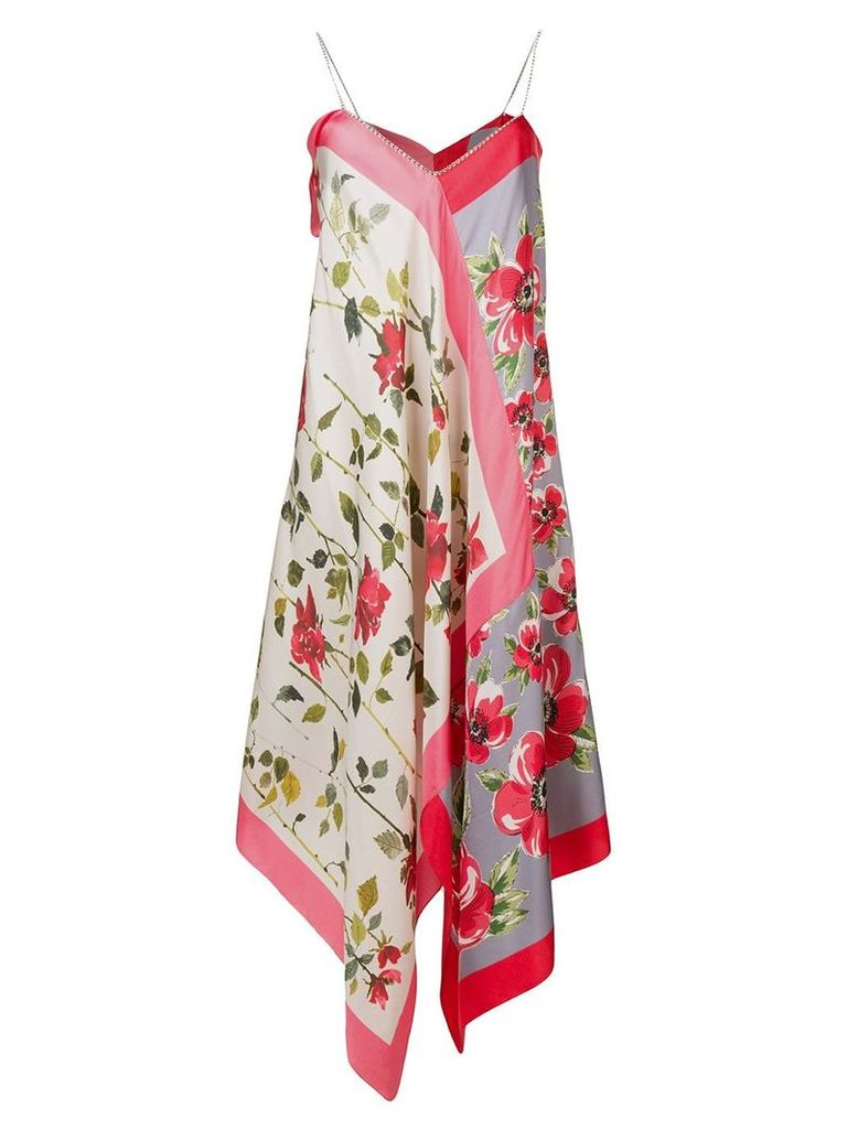Semicouture floral print slip dress - Pink