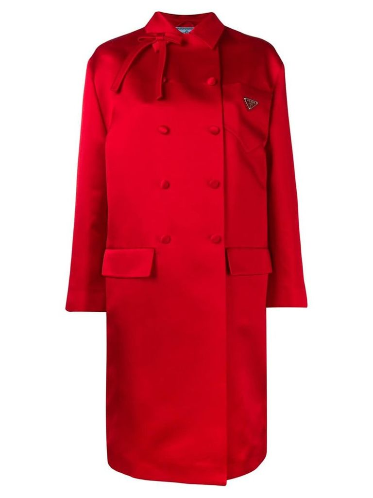 Prada double breasted coat - Red