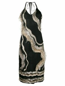 Taller Marmo cami-styled dress with embellishments - Black
