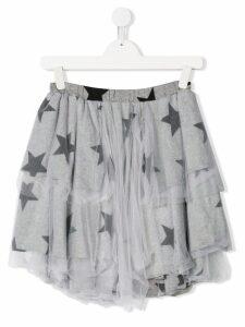 Nununu ruffle star printed skirt - Grey