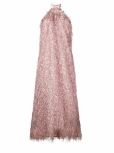 Taller Marmo all-fringe design dress - Pink