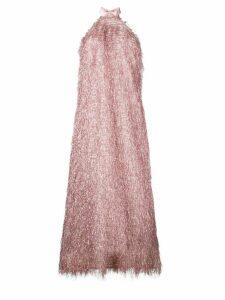 Taller Marmo all-fringe design dress - Pink