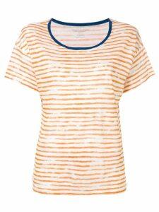 Majestic Filatures painted stripe T-shirt - Orange