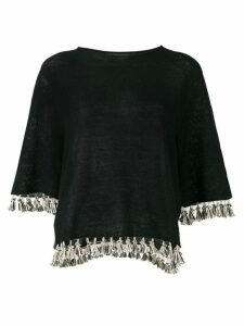 Antonelli fringed knitted top - Black