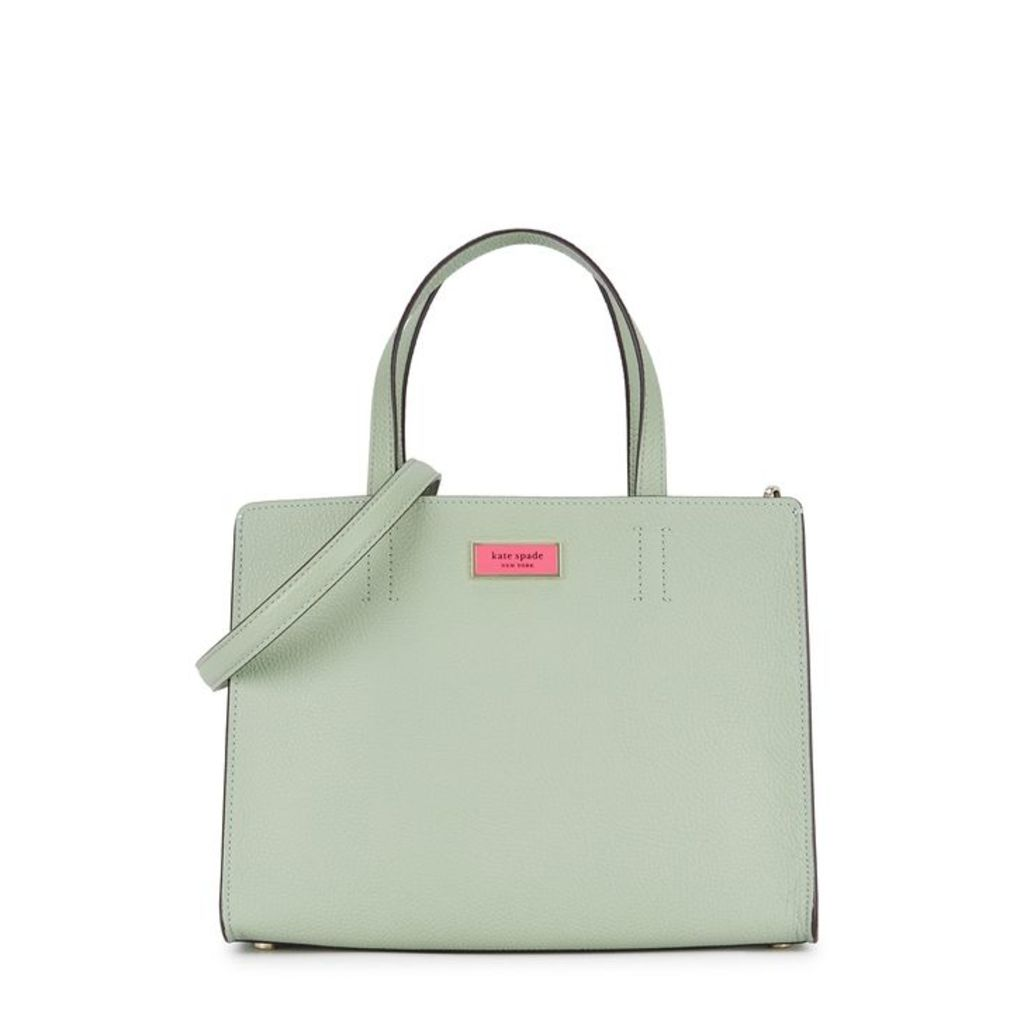 Kate Spade New York Sam Mint Grained Leather Shoulder Bag