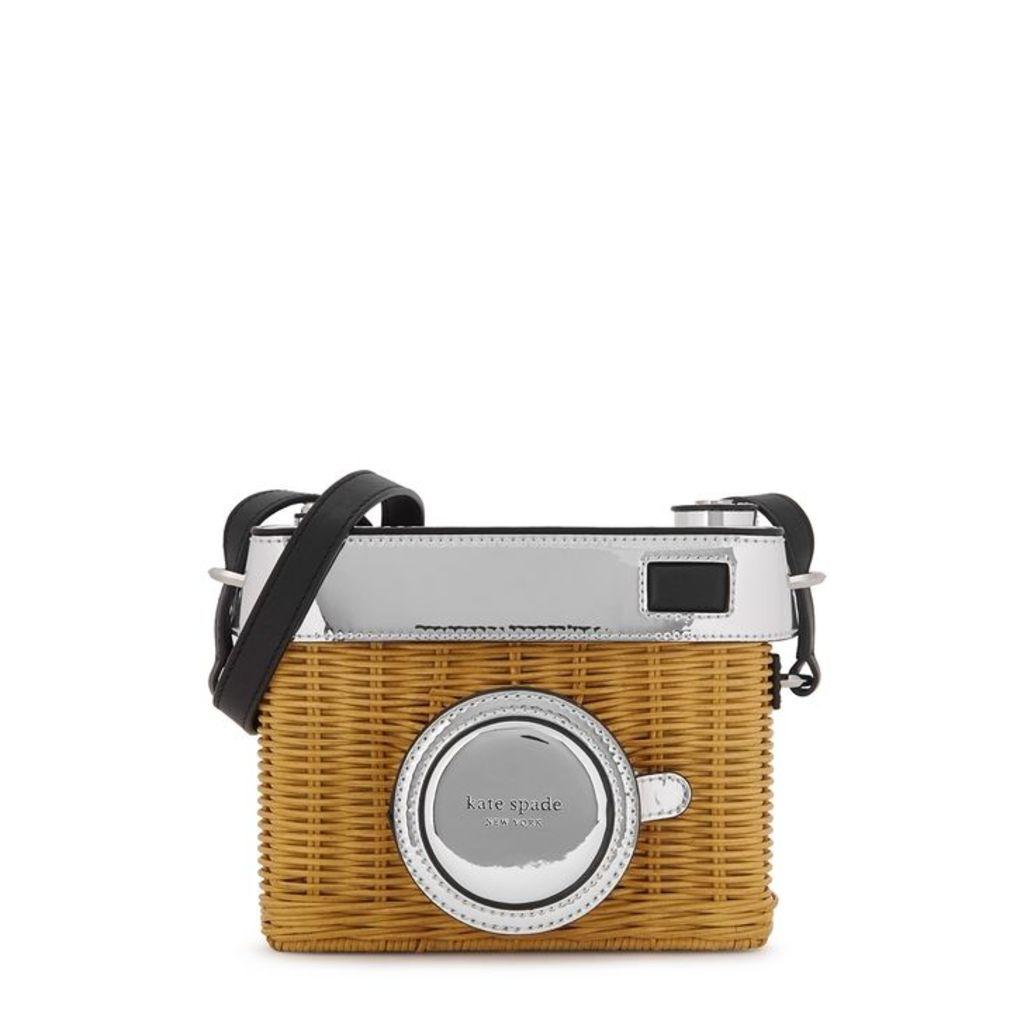 Kate Spade New York Rose Rattan Camera Box Bag
