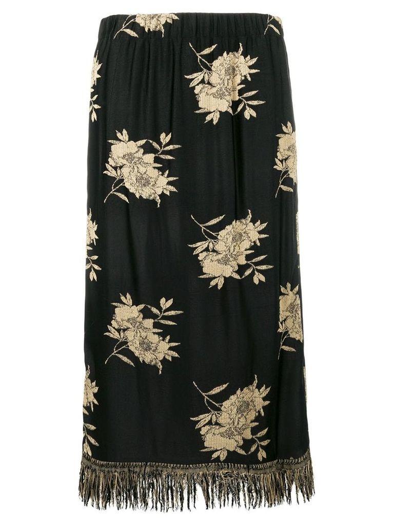 Etro floral-print midi skirt - Black