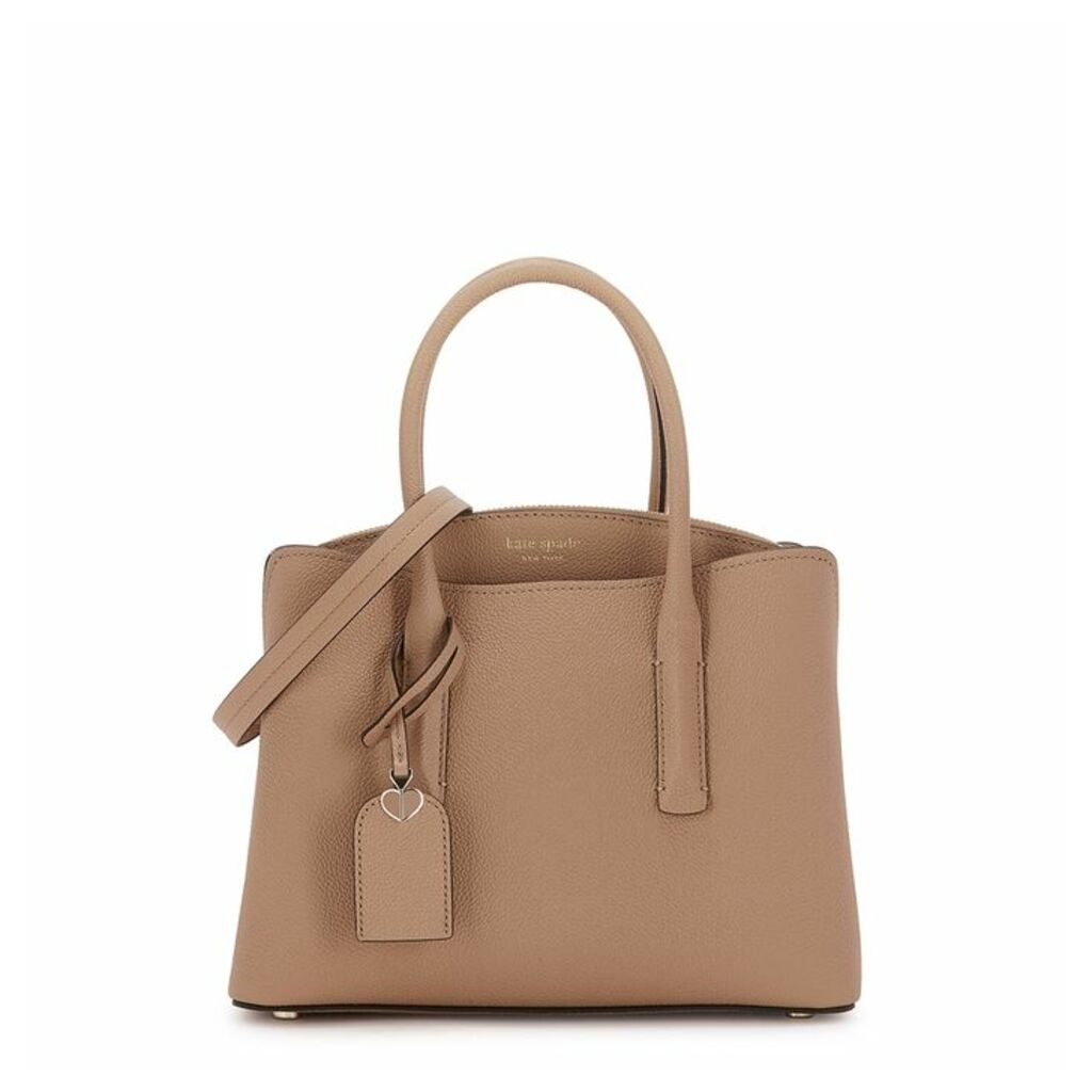 Kate Spade New York Margaux Camel Grained Leather Top Handle Bag