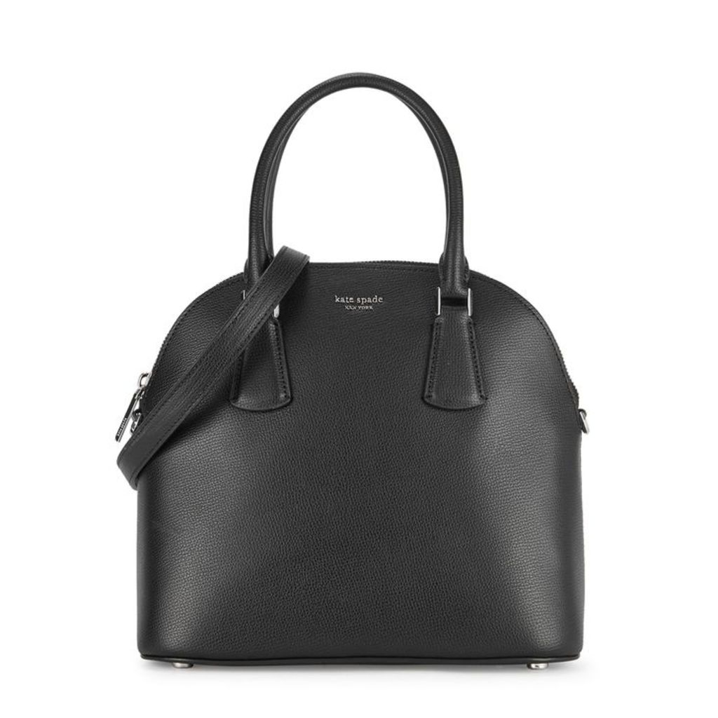 Kate Spade New York Sylvia Black Grained Leather Shoulder Satchel