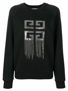 Givenchy logo embellished sweater - Black