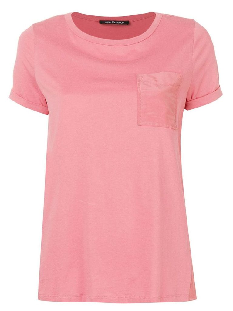 Luisa Cerano round-neck T-shirt - Pink