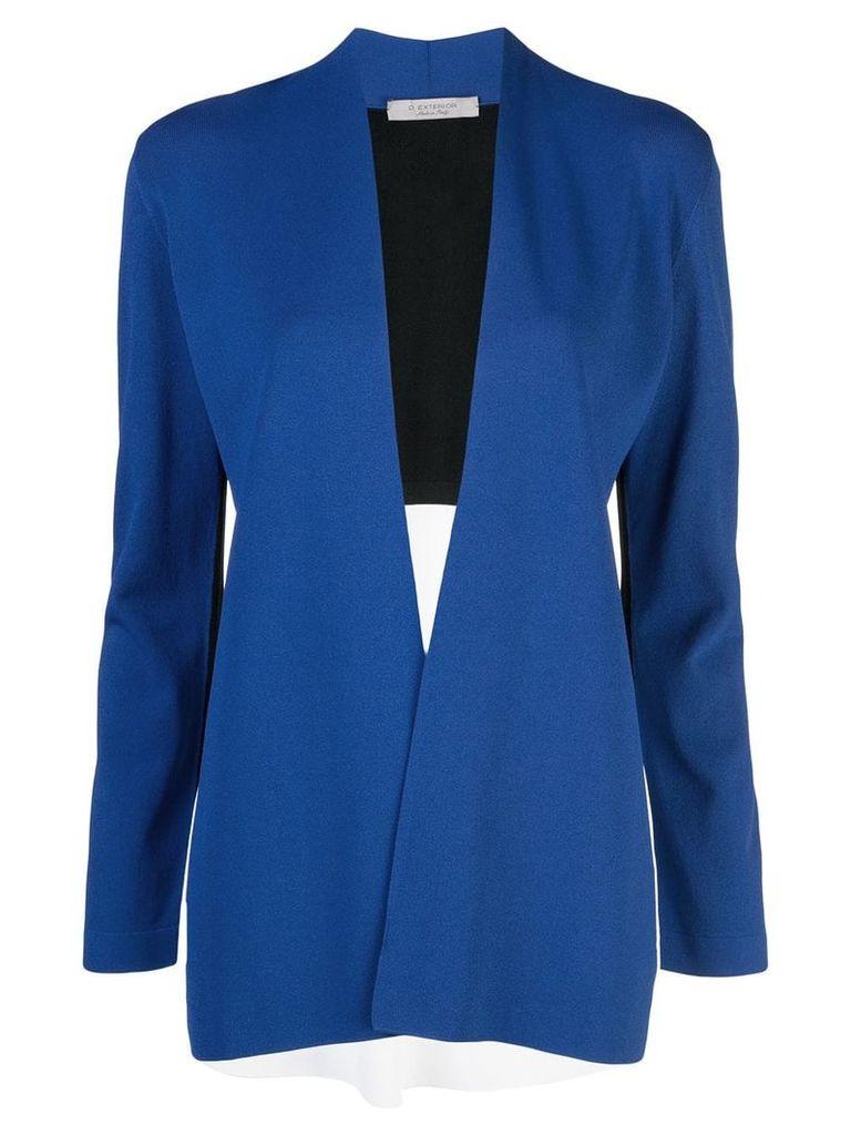 D.Exterior colour block blazer - Blue