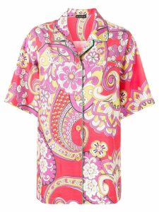Etro floral paisley print shirt - Red