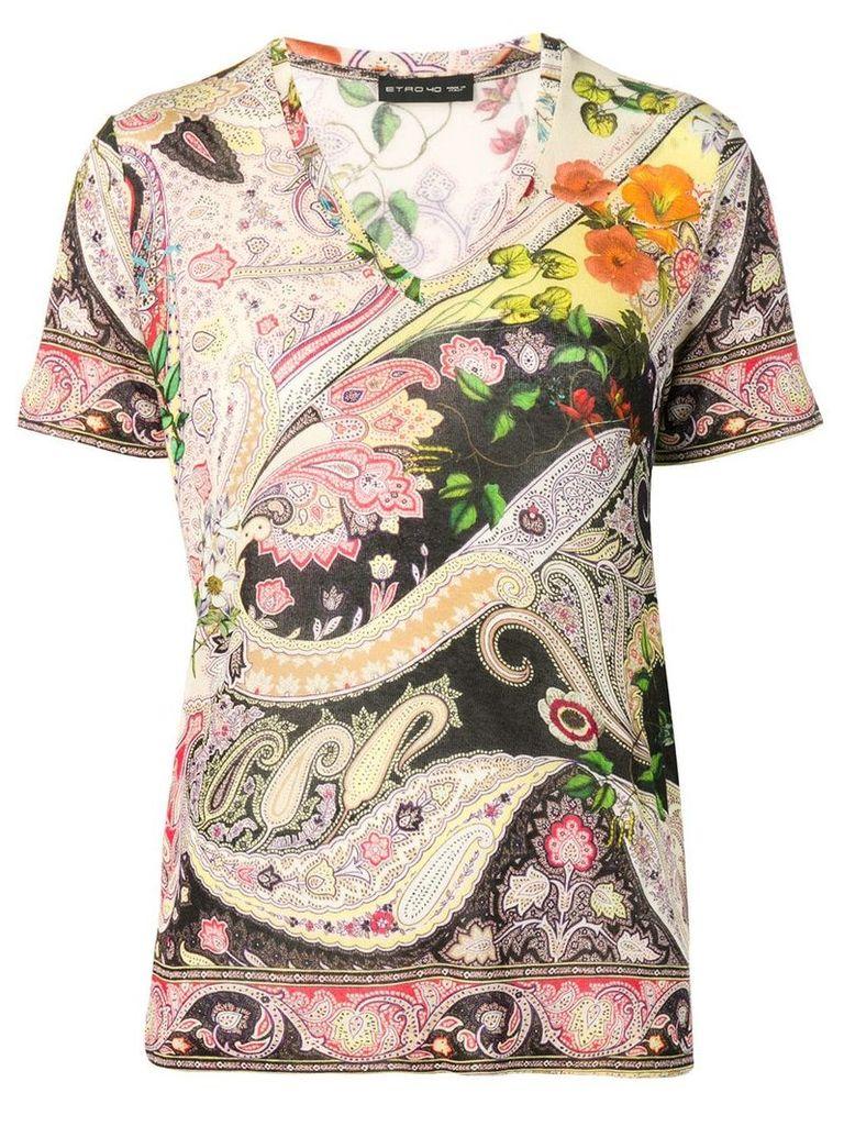 Etro multi-print T-shirt - Multicolour