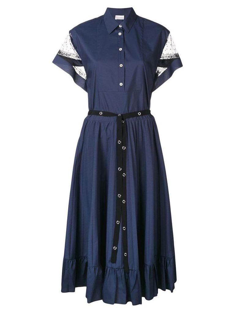 Red Valentino poplin shirt dress - Blue