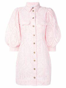 Ganni puff sleeve dress - Pink