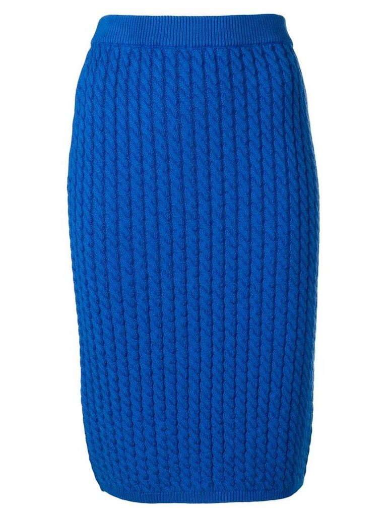 Alessandra Rich knitted skirt - Blue