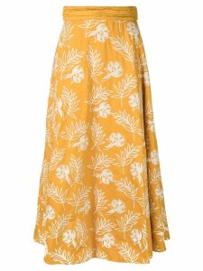 Amur floral printed midi skirt - Yellow