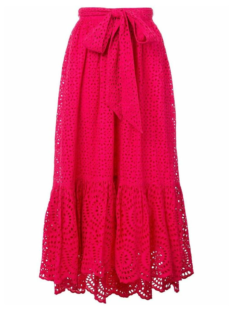 Ulla Johnson Lindley broderie anglaise skirt - Pink
