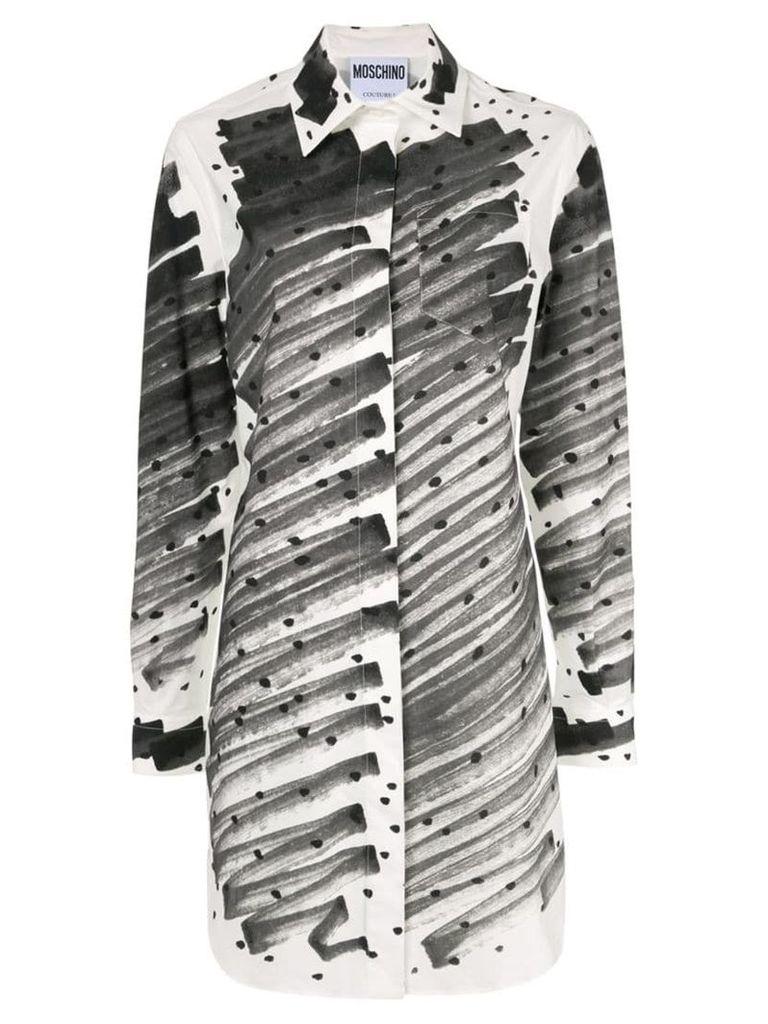 Moschino Brushstroke Polka Dot print shirt - Grey