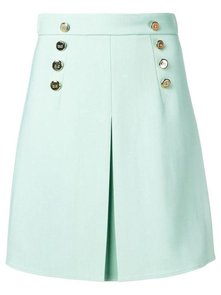 Elisabetta Franchi button skirt - Green