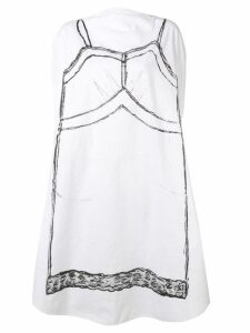Mm6 Maison Margiela Trace Marked printed circle dress - White