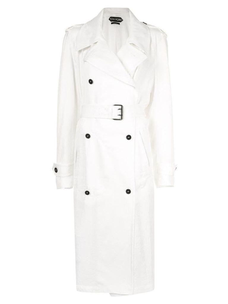Tom Ford twill raincoat - White