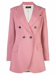 Derek Lam Double Breasted Stretch Crepe Blazer - Pink