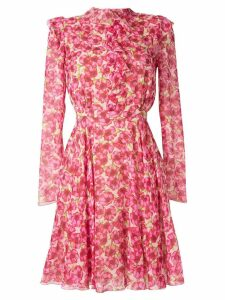 Giambattista Valli floral long-sleeve dress - PINK