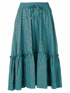 P.A.R.O.S.H. printed drawstring skirt - Blue