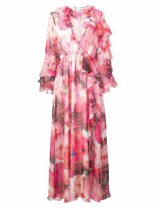 MSGM floral print maxi dress - Pink
