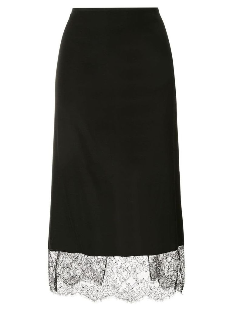 Tom Ford lace-detail midi skirt - Black