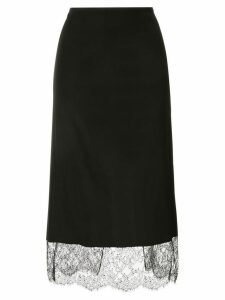 Tom Ford lace-detail midi skirt - Black