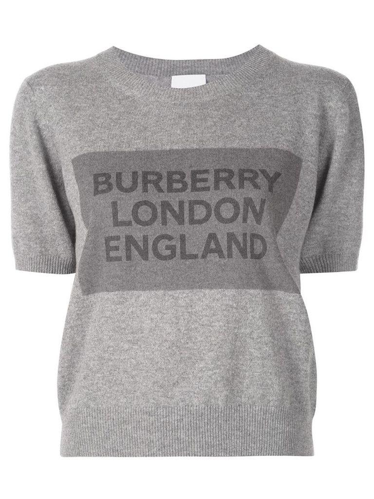 Burberry knit logo print top - Grey