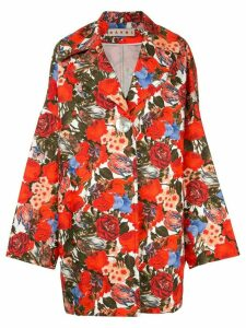 Marni floral print oversized coat - Multicolour