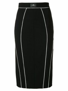 Elisabetta Franchi contrast piped pencil skirt - Black
