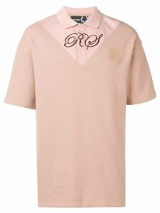 Raf Simons X Fred Perry embroidered logo T-shirt - Pink