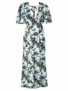 Les Reveries long floral dress - Blue