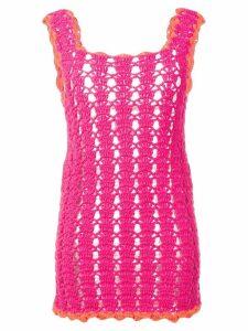 Marco Rambaldi knitted mini dress - Pink
