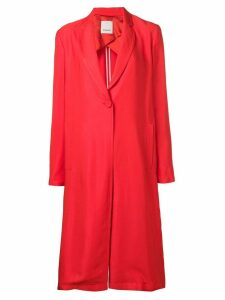 Pinko single-breasted duster coat - Red