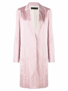 Haider Ackermann metallic trench coast - Pink