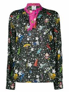 Ultràchic star print blouse - Black