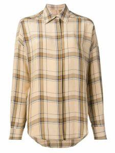 Alberto Biani classic plaid shirt - Neutrals
