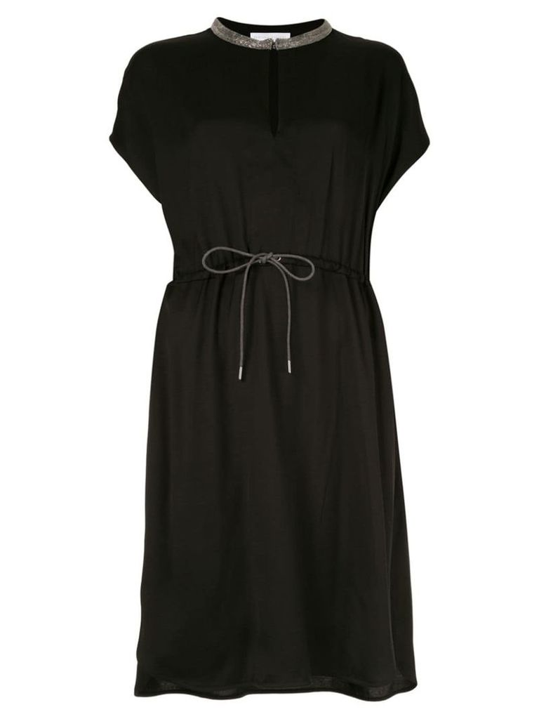 Fabiana Filippi short-sleeve flared dress - Black