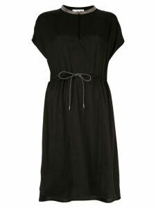 Fabiana Filippi short-sleeve flared dress - Black