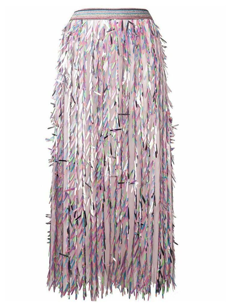 Ultràchic stencil cut maxi skirt - Pink