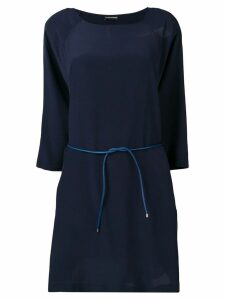 Emporio Armani belted shift dress - Blue